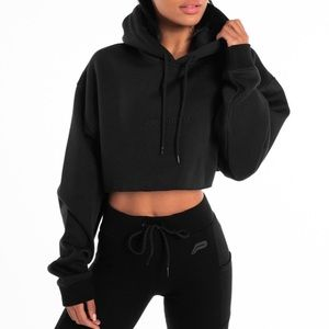 Pursue fitness cropped hoodie